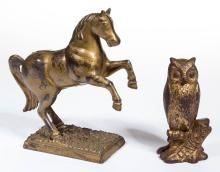 FIGURAL CAST-IRON PENNY / STILL BANKS, LOT OF TWO