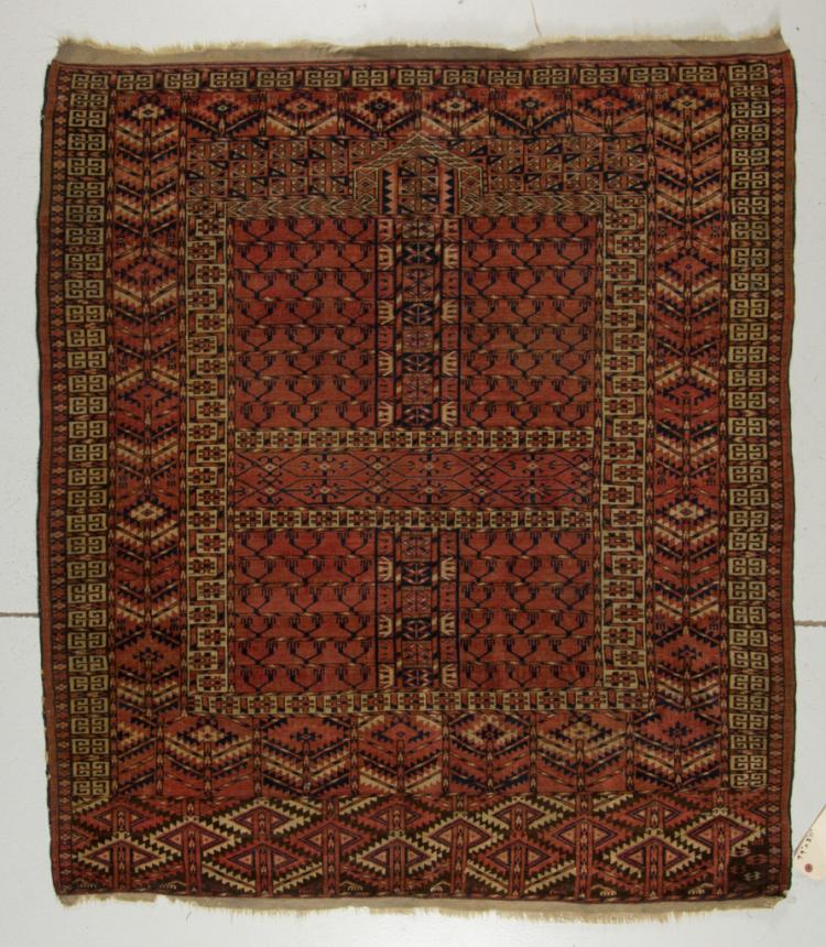 Home Furniture Rugs: ANTIQUE TEKKE PRAYER RUG