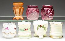 ASSORTED GLASS TOOTHPICK HOLDERS, LOT OF SEVEN