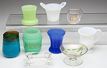 ASSORTED GLASS TOOTHPICK HOLDERS, LOT OF FIVE