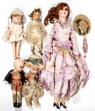 ASSORTED COMPOSITION DOLLS, LOT OF FIVE