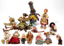ASSORTED CLOTH AND OTHER DOLLS, LOT OF 14