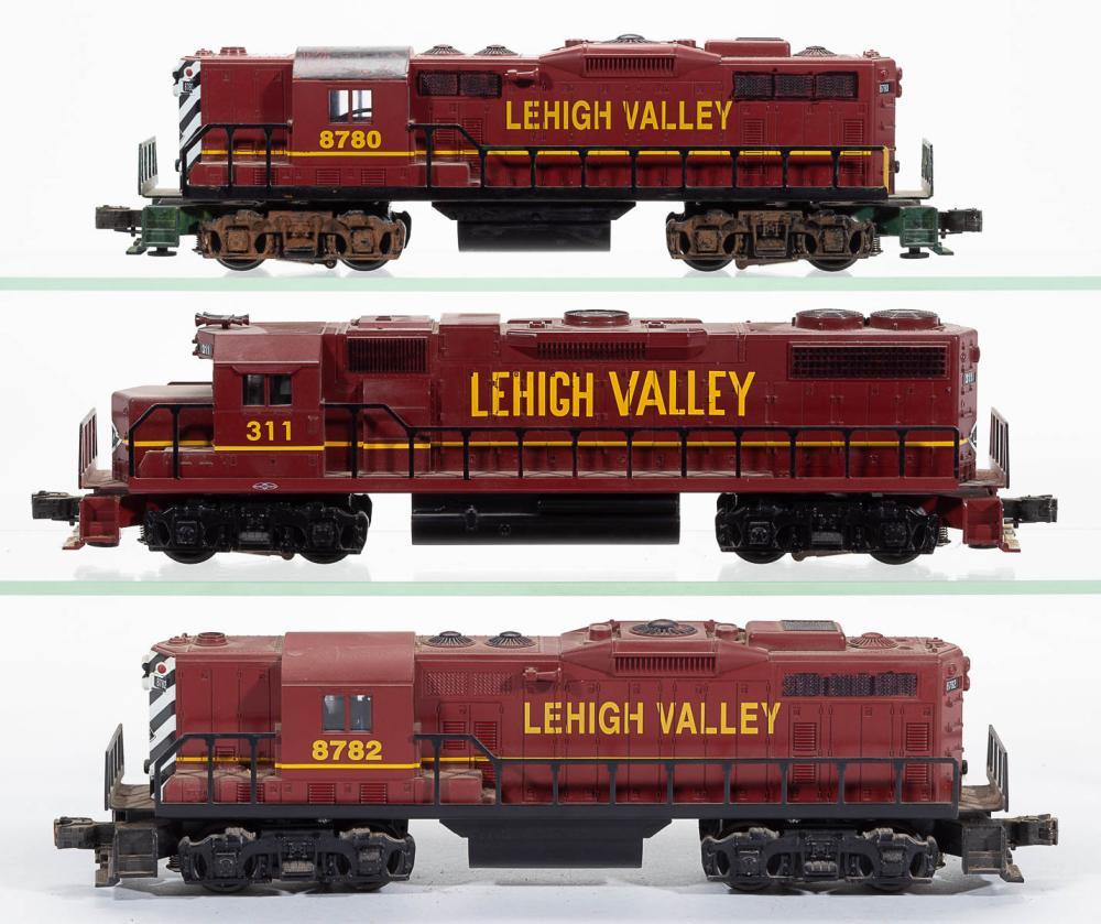 Williams Lehigh Valley O Gauge Locomotives Lot Of Three