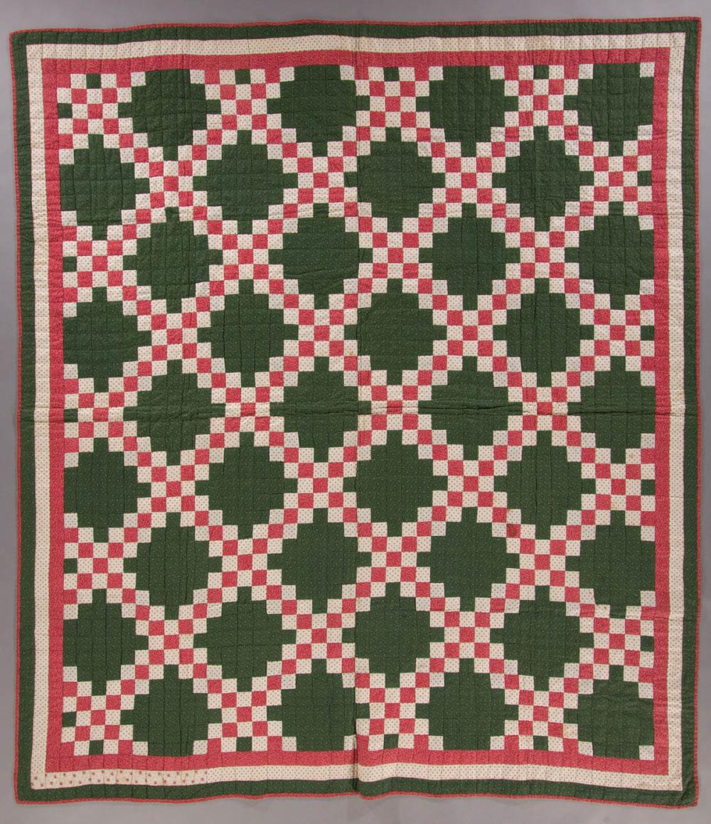 Mid Atlantic Double Irish Chain Pieced Quilt