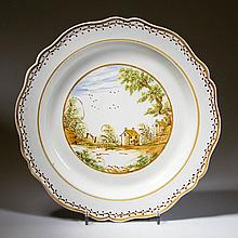 ENGLISH STAFFORDSHIRE POTTERY PEARLWARE LARGE CHARGER DISH
