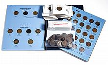UNITED STATES INDIAN HEAD ONE-CENT COINS, LOT OF 189