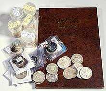 UNITED STATES SILVER HALF-DOLLAR COINS, LOT OF 113