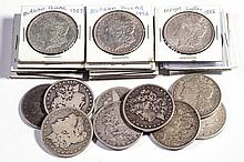 UNITED STATES SILVER MORGAN DOLLAR COINS, LOT OF 27