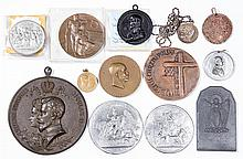 ASSORTED HISTORICAL MEDALLIONS, LOT OF 13