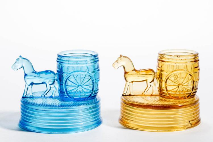 Horse with cart novelty toothpick holders lot of two - Novelty toothpicks ...