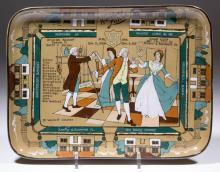 BUFFALO POTTERY DELDARE WALDORF LUNCH ANNIVERSARY PLATTER / TRAY