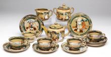 BUFFALO POTTERY DELDARE TEA ARTICLES, LOT OF 16