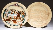 BUFFALO CHINA FALLOWFIELD HUNT COLORIDO CERAMIC PLATES, LOT OF TWO