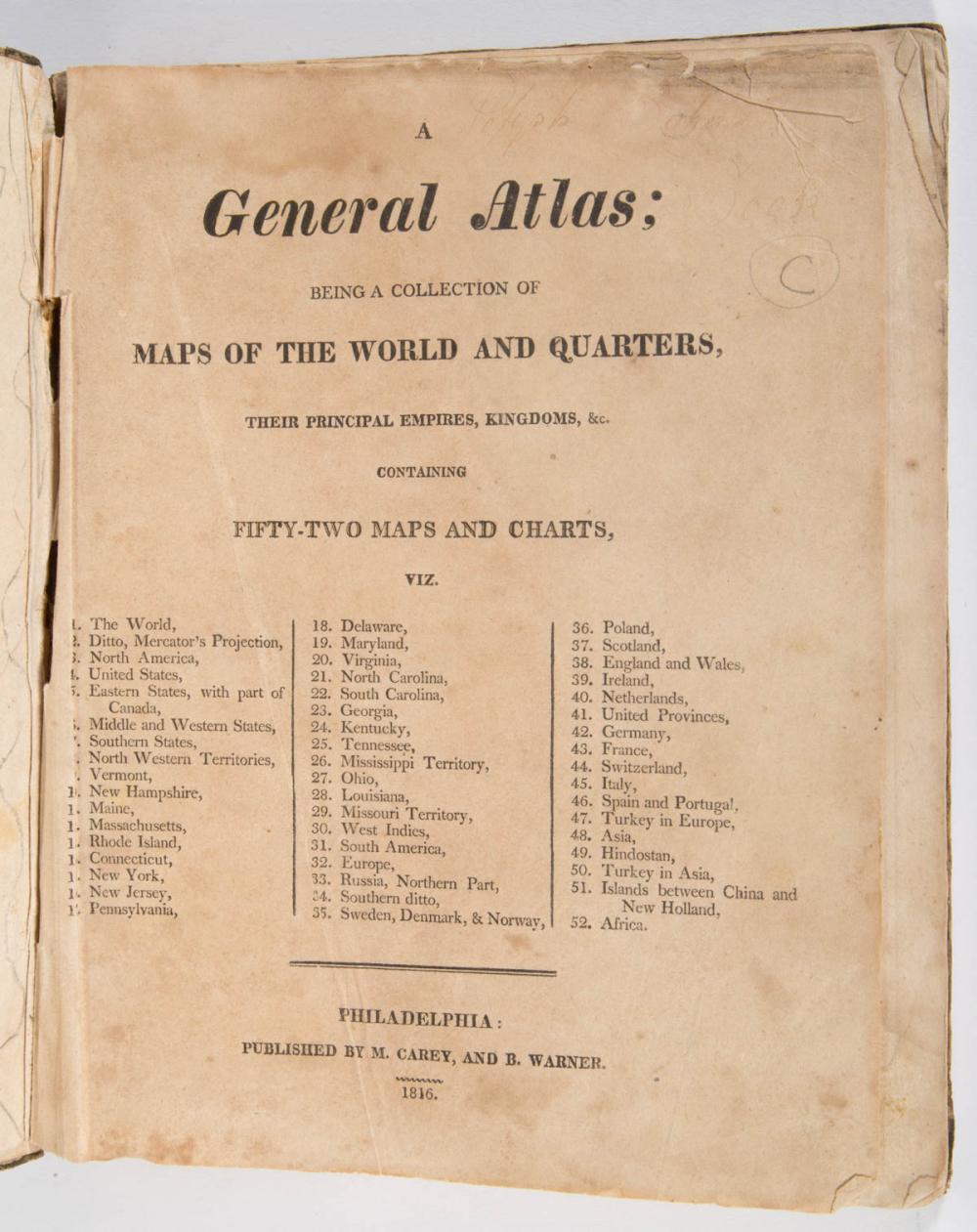 AMERICAN HISTORICAL ATLAS VOLUME
