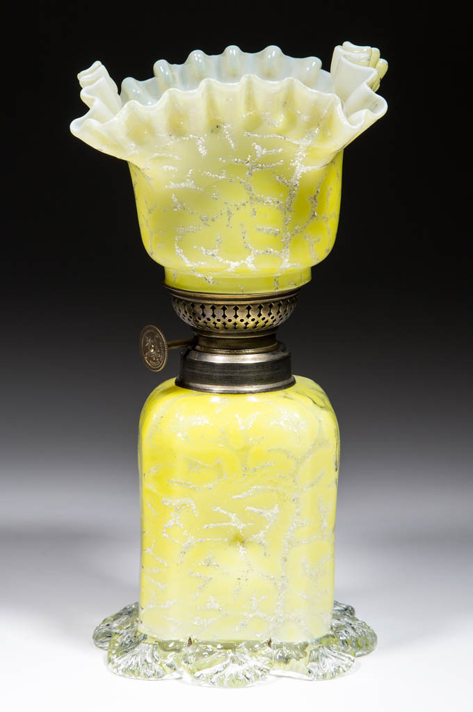 CASED GLASS WITH MICA FLECKS MINIATURE LAMP