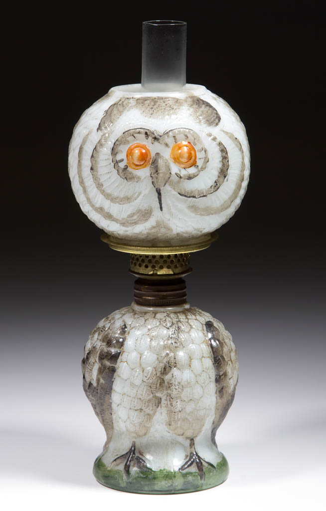 GLASS OWL FIGURAL MINIATURE LAMP
