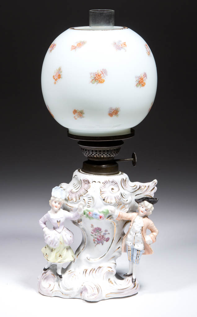 PORCLEAIN FIGURAL MINIATURE LAMP