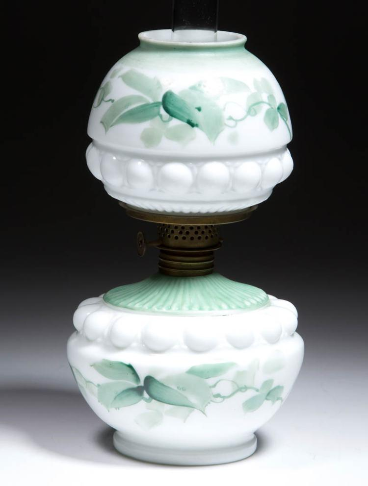 DECORATED OPAQUE GLASS MINIATURE LAMP
