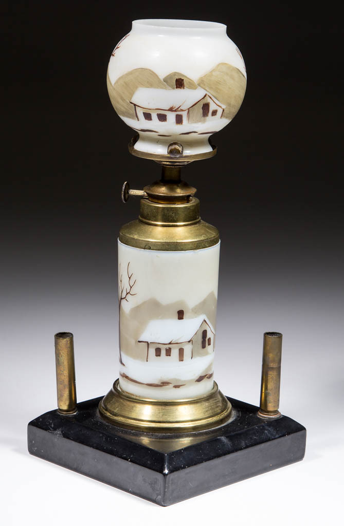 VICTORIAN DECORATED COUNTER CIGAR LIGHTER / LAMP