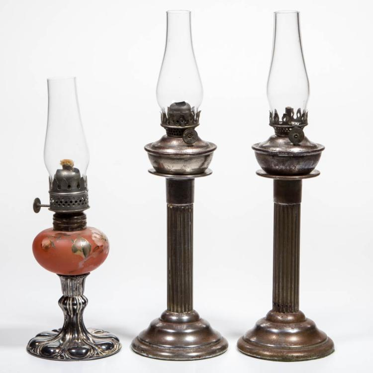 ASSORTED PEG MINIATURE LAMPS, LOT OF THREE