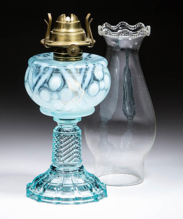 MIX AND MATCH - DIAMOND COINSPOT KEROSENE STAND LAMP