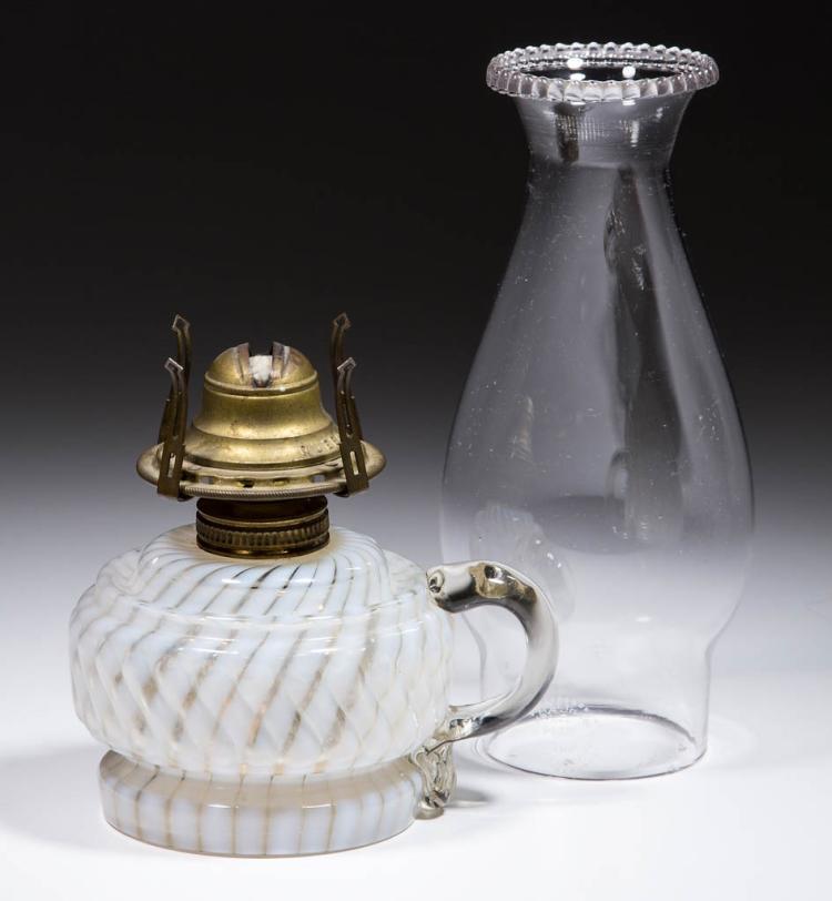 MARKHAM SWIRL BAND KEROSENE FINGER LAMP