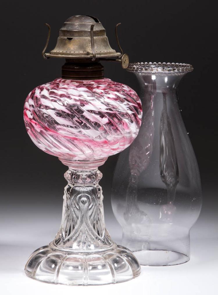 SHELDON SWIRL KEROSENE STAND LAMP