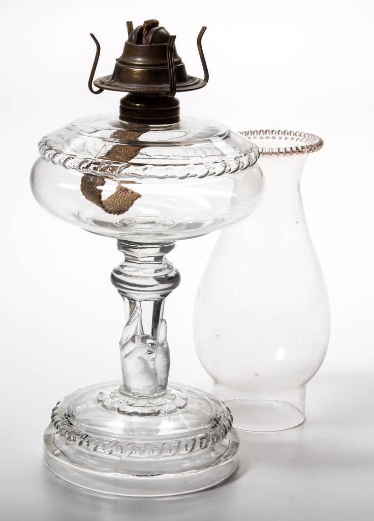HOBBS HAND STEM - SMALL SIZE KEROSENE STAND LAMP