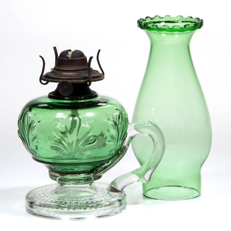 RIVERSIDE NO. 486 / FERN KEROSENE FINGER LAMP