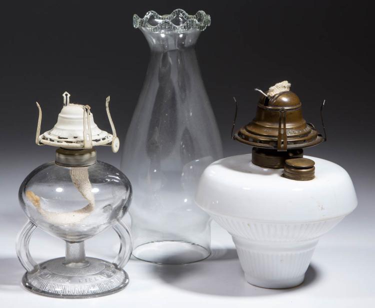 RIPLEY PATENTED KEROSENE FOOTED FINGER LAMP