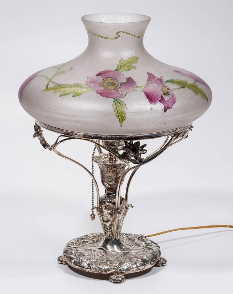 PAIRPOINT QUADRUPLE-PLATE KEROSENE PARLOR LAMP