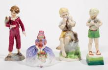 ENGLISH ROYAL WORCESTER FIGURES, LOT OF FOUR