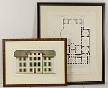 ROBERT ADAM (BRITISH, 1728-1792) ARCHITECTURAL PLAN OF SHELBURNE HOUSE