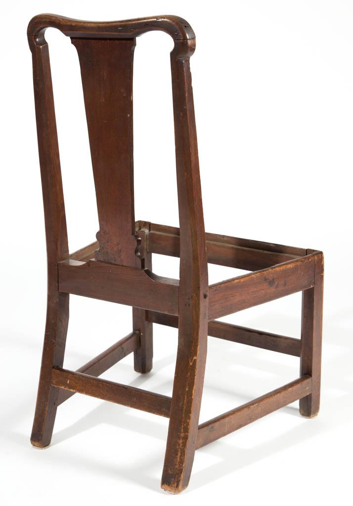 Virginia North Carolina Chippendale Walnut Side Chair