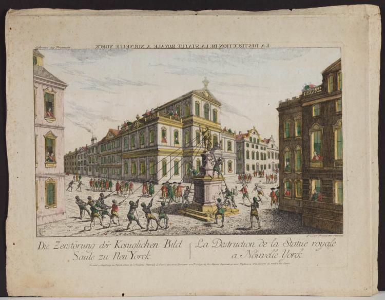 FRANZ XAVIER HABERMANN (GERMAN, 1721-1796) AMERICAN HISTORICAL PRINT