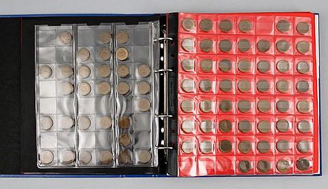 Sammlung 1, 2 und 5 Pfennige Deutschland ab 1948