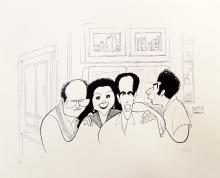 AL HIRSCHFELD (AMERICAN 1903-2006), LITHOGRAPH, SEINFELD, SIGNED (IN PENCIL) 30/100. SHEET 18 3/4 X 23