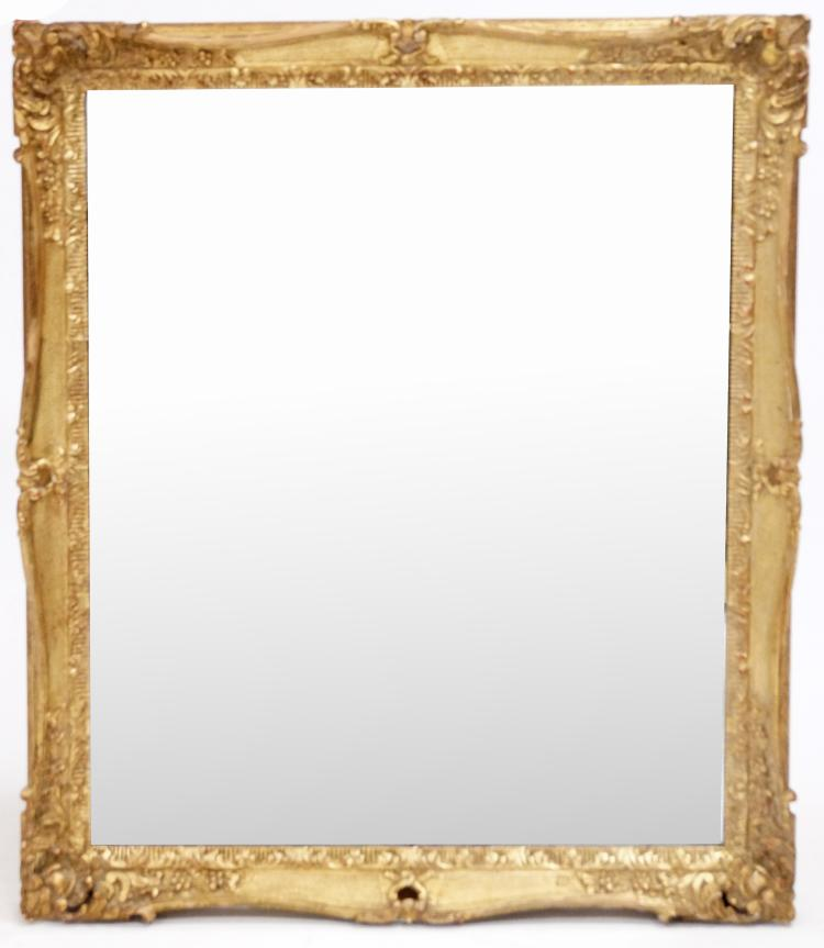 French style carved and gilt framed mirror 19th century 35