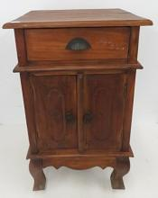 REGENCY STYLE CARVED MAHOGANY CABINET. HEIGHT 28