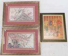 LOT (3) FRAMED PRINTS INCLUDING 1/SIGNED (IN INK), BY FABRICE DE VILLENEUVE. LARGEST FRAMED AND GLAZED-24 X 34