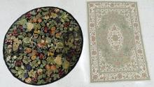 LOT (2) VINTAGE RUGS INCLUDING HAND TUFTED, 5 X 9' AND PERSIAN PATTERN CHAIN STITCHED