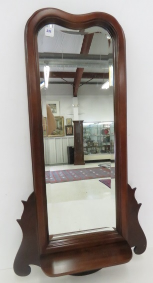CHIPPENDALE STYLE CHERRY MIRROR SHELF. HEIGHT 35