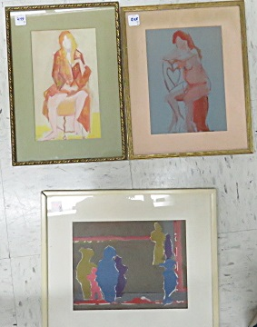 JUNE ROTH (AMERICAN/NY 20TH/21ST CENTURY), LOT (3) ASSORTED ARTWORK, SIGNED. LARGEST 9 X 12