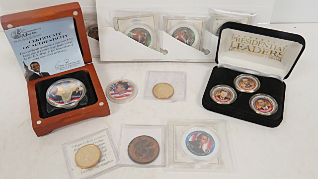LOT ASSORTED PRESIDENTIAL COMMEMORATIVE COINS