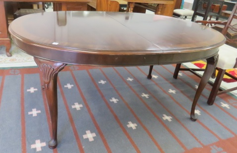 DREXEL MAHOGANY INLAID TABLE WITH (2) 20