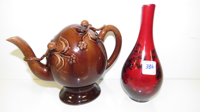 LOT (2) INCLUDING ROYAL DOULTON FLAMBE