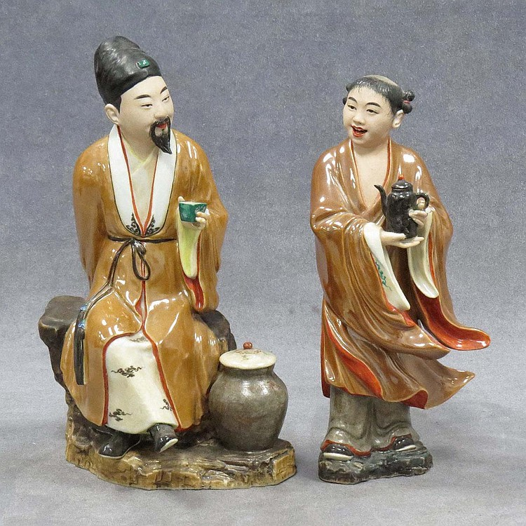 LOT (2) CHINESE PORCELAIN FIGURES
