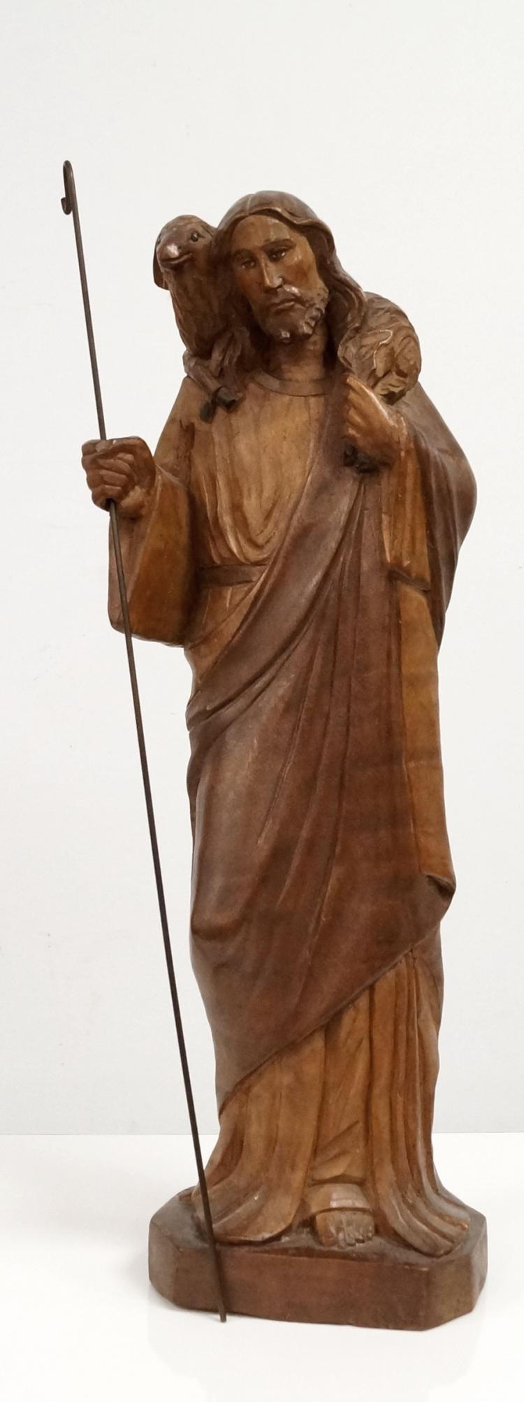 Continental carved boxwood figure of jesus height quot