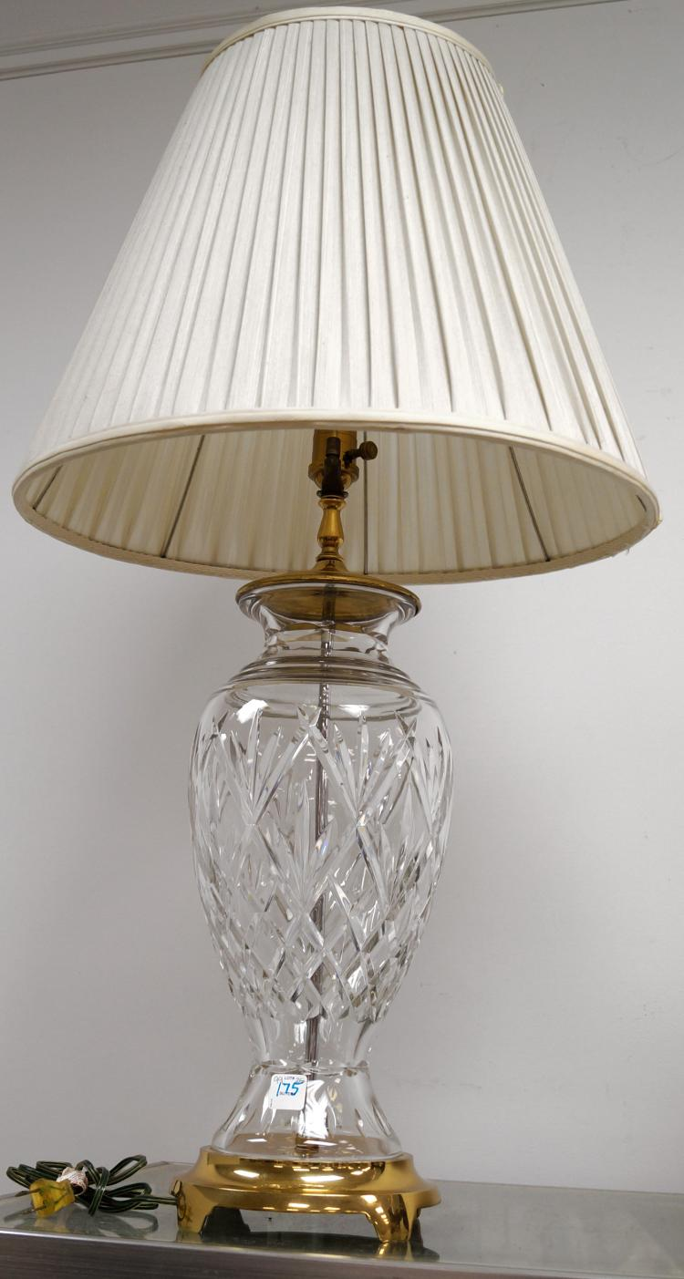 Waterford Cut Crystal And Brass Table Lamp Height 36 Quot