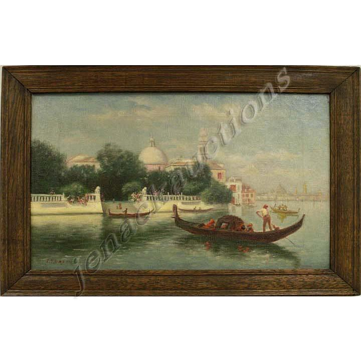 OIL ON CANVAS, VIEW IN VENICE, SIGNED J.T. BREEN